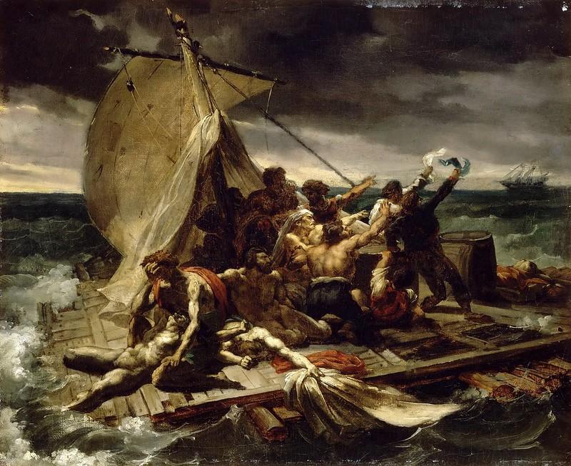 Théodore Géricault - The Raft of the Medusa, Sketch [1818]