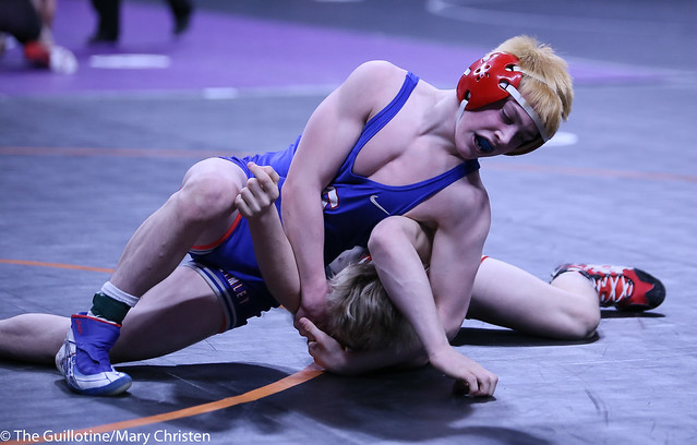 113AA - Semifinal - Charlie Pickell (Mankato West) 38-4 won by decision over Ryan Sokol (Simley) 40-7 (Dec 13-8)