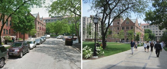 Ellis Street in Hyde Park, before and after