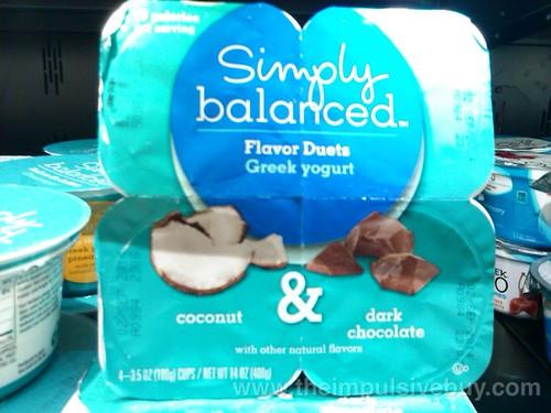 Target SImply Balanced Coconut Dark Chocolate Flavor Duets Greek Yogurt