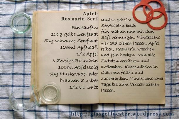 Einkaufszettel Apfelrosmarinsenf by Glasgefluester