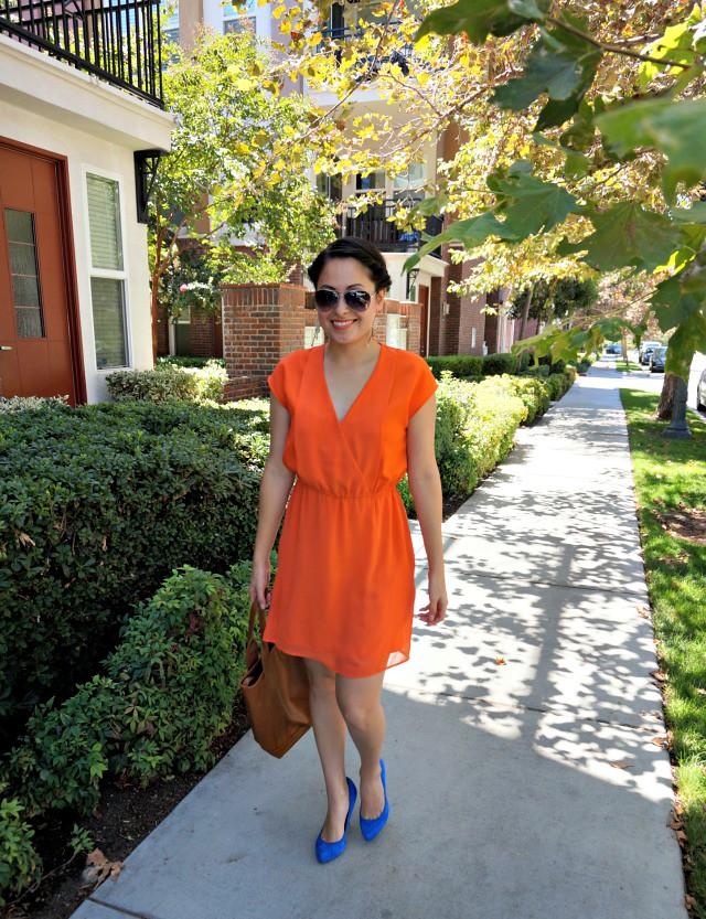 orange and cobalt heels 1