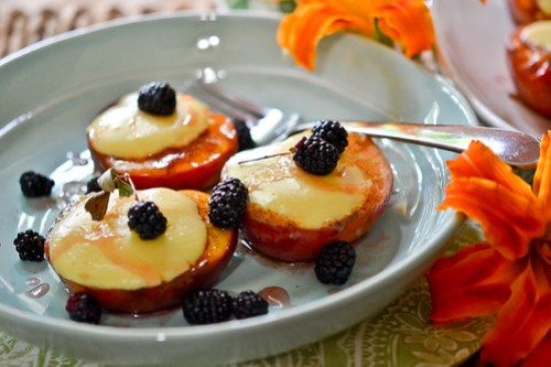 Cheesecake-Stuffed Peaches-14