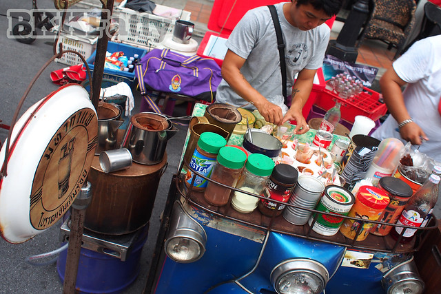 coffee sold from half a tuk tuk