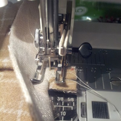 sewing the flaps