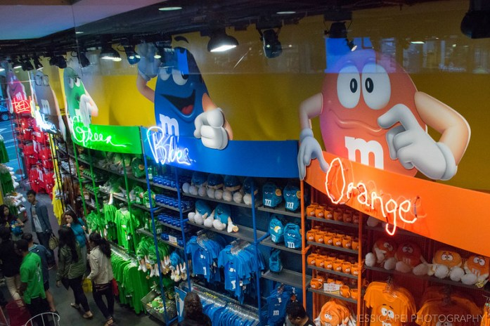 Inside M&M Store in Times Square New York City
