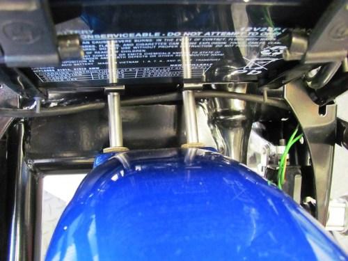 Rear Fender Standoffs Mounted to Lower Rear Fender