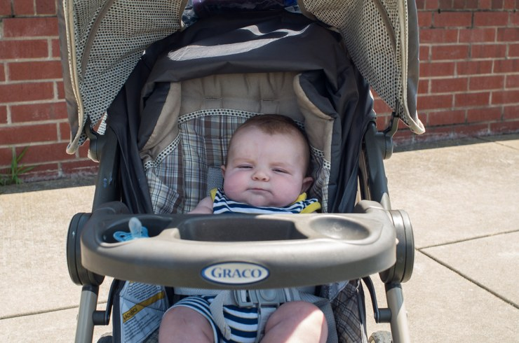 Ezra in his stroller