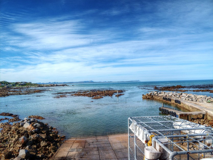 Looking out into Gansbaai Bay.