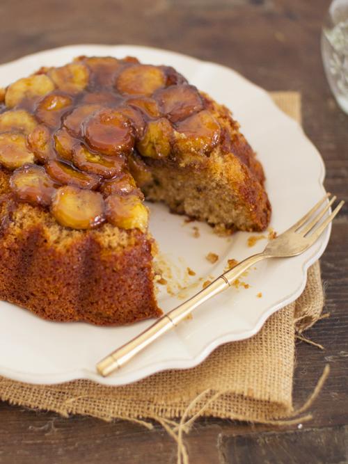 caramelised banana cake