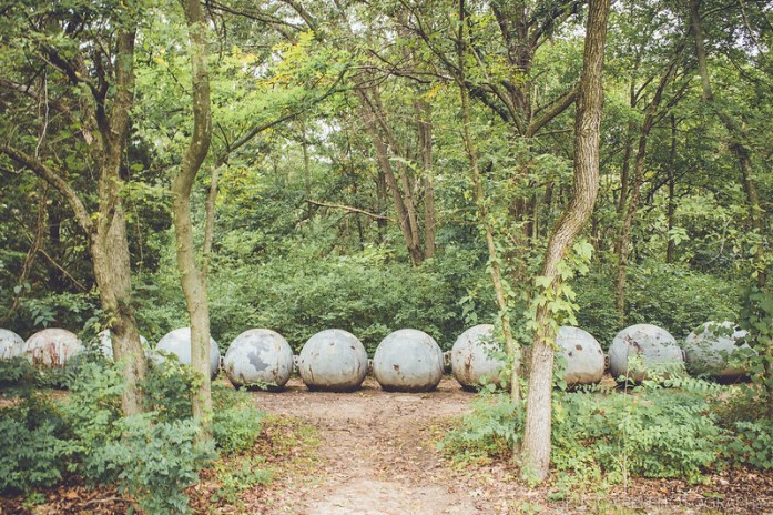 giant balls spheres ground forest sculpture park