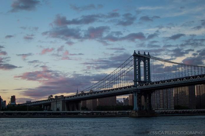 New York Sunset from Brooklyn Bridge