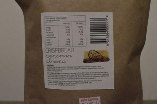 Herbs of Life: Cinnamon almond crispbread