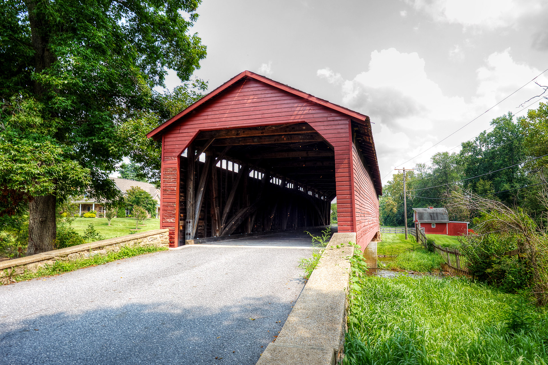 Utica Mills Covered Bridge, MD.