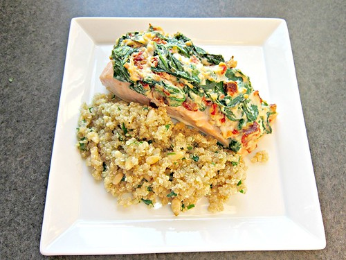 Salmon Florentine with Quinoa Pilaf 001