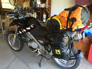 Steve's bike loaded