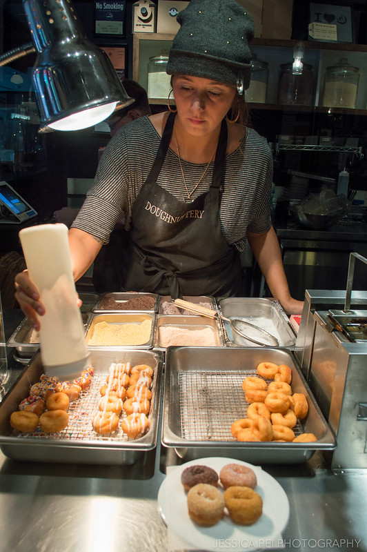 Mini Donuts in Doughnuttery at Chelsea Market New York