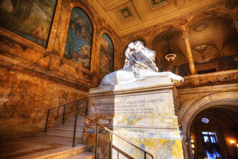 Louis Saint-Gaudens lion dedicated to the Second Massachusetts Volunteer Infantry.