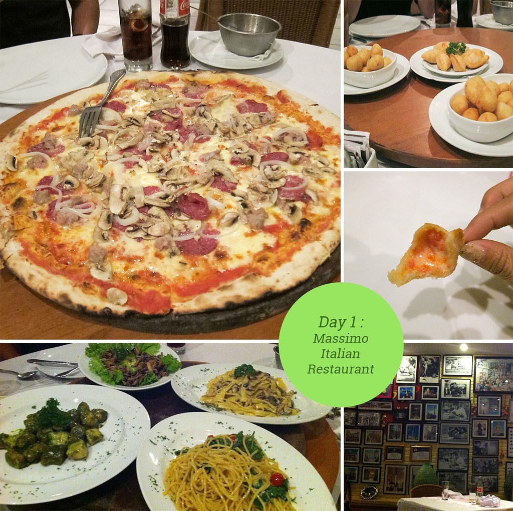 Day 1 - Massimo Italian Food
