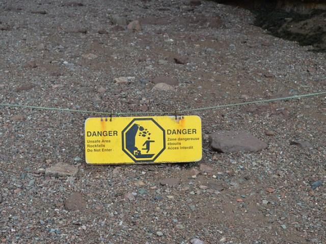 Never saw these signs when Kayaking