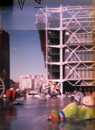 Fontaine Stravinsky et Contre Pompidou