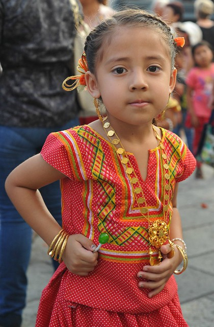 Little Tehuana in Red Mexico