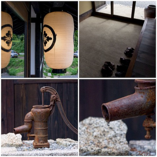 ささゆり庵の回りには、井戸水を汲む昔ながらのアレがありました。