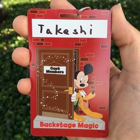 Backstage Magicネームタグ。今日はたぶん写真がほとんどないと思います。