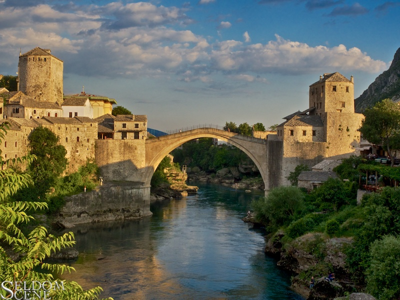 Stari Most at sundown