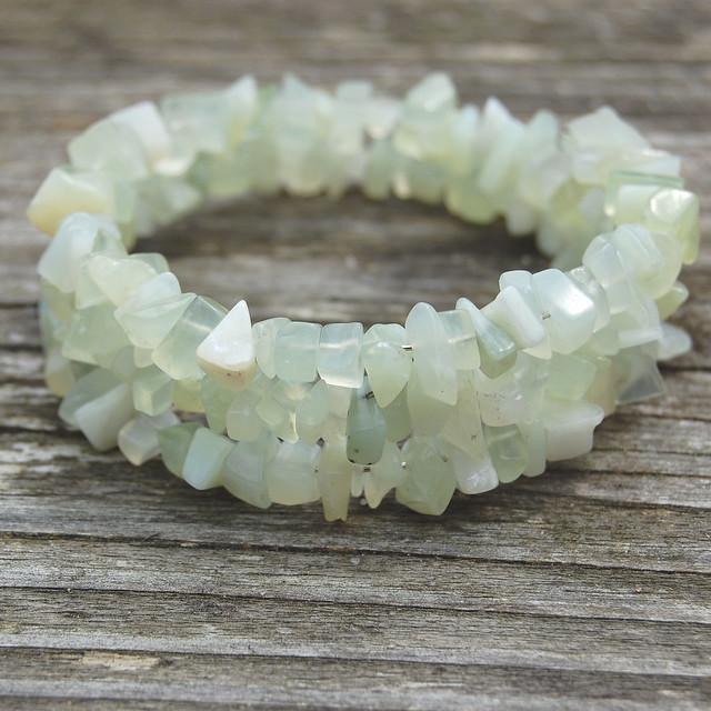 Gemstone spiral bracelets - New Jade