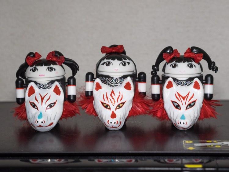 BABYMETAL Bugdroid (YUIMETAL / SU-METAL / MOAMETAL) + Kitsune-Mask [WORLD TOUR 2014 Ver.]