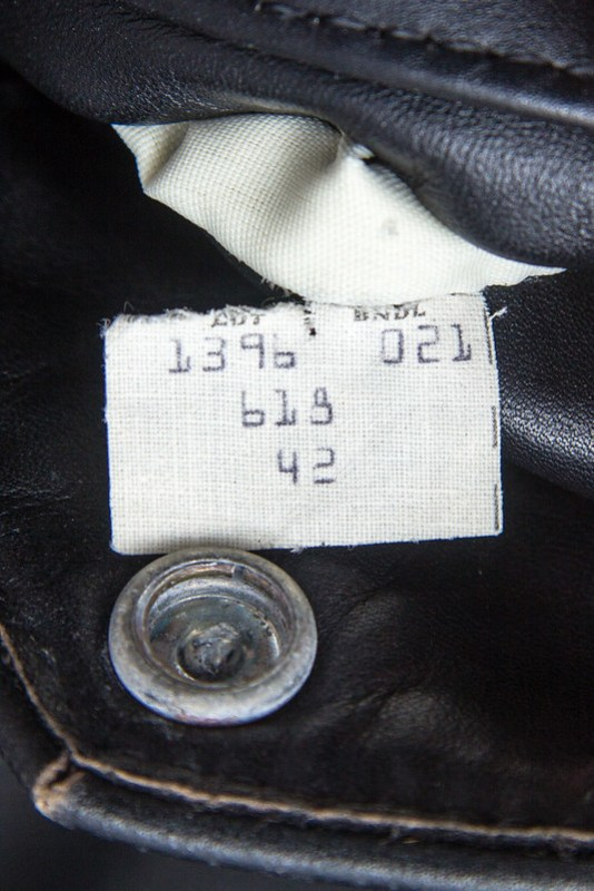 Schott Perfecto 618 - production label detail