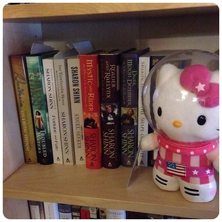 Astronaut Hello Kitty continues the tour, this time to the land of Sharon Shinn.