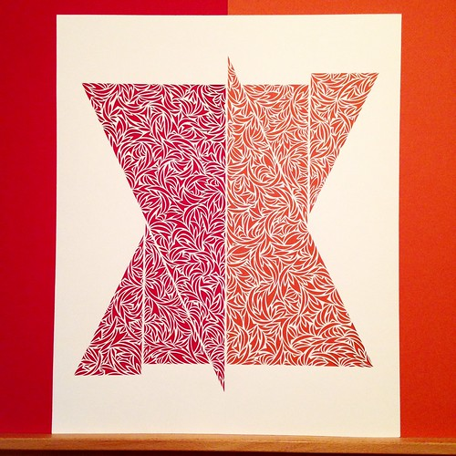 Updated triangle paper cut piece