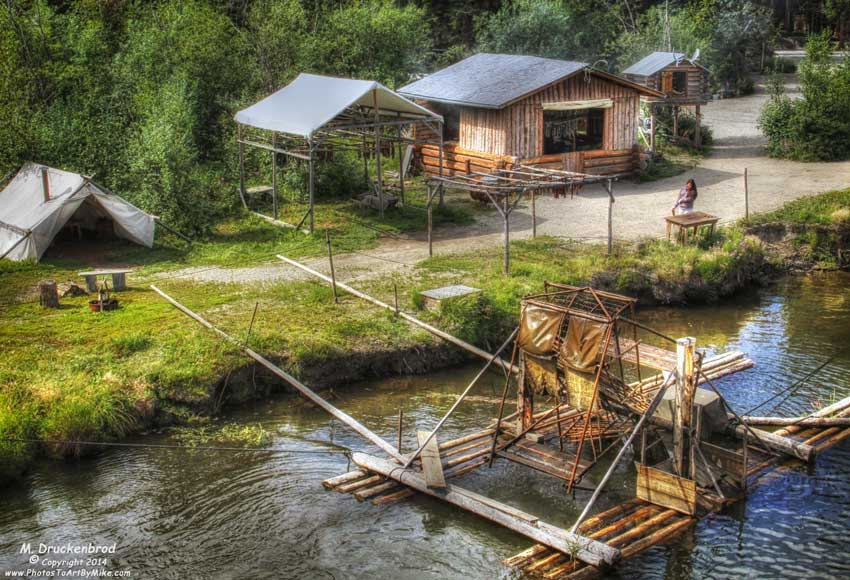 Fish Wheel, Athabascan Indian Village, Fairbanks Alaska