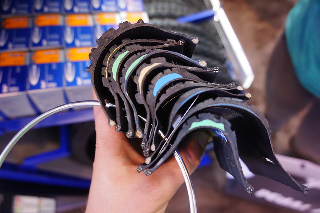 Eurobike 2014: Inside Schwalbe tyres (cross-section)