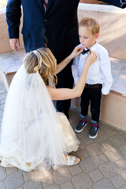 Kimmy_Erik - ring bearer in gap jean, skull bowtie and checkerboard vans-1165