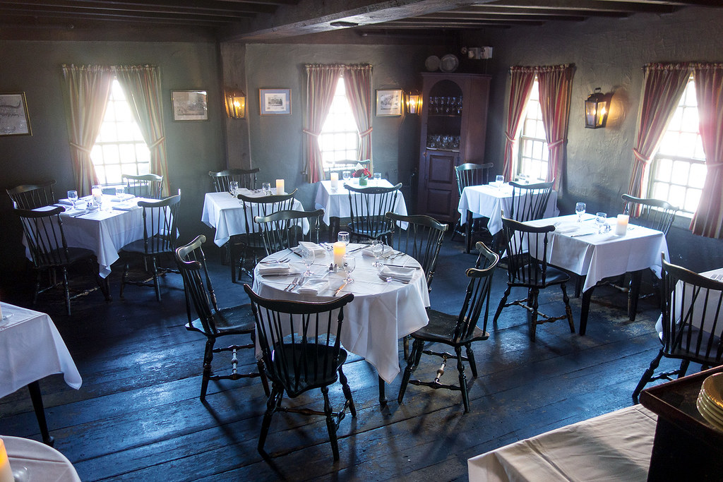 The main dining room at the White Horse Tavern.