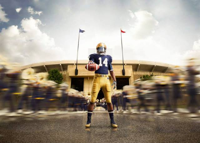 Notre Dame Football Under Armour Uniforms