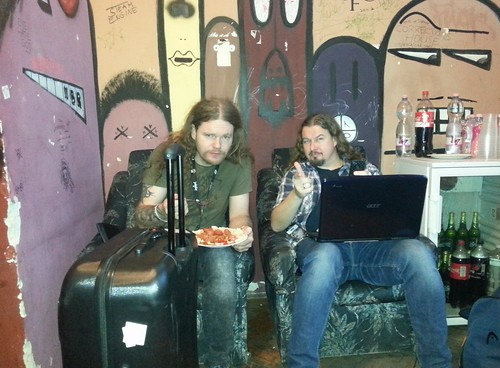 Athera and Jens backstage at Dürer Kert in Budapest