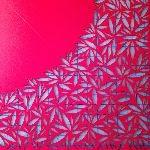 Work in progress paper cut - detail