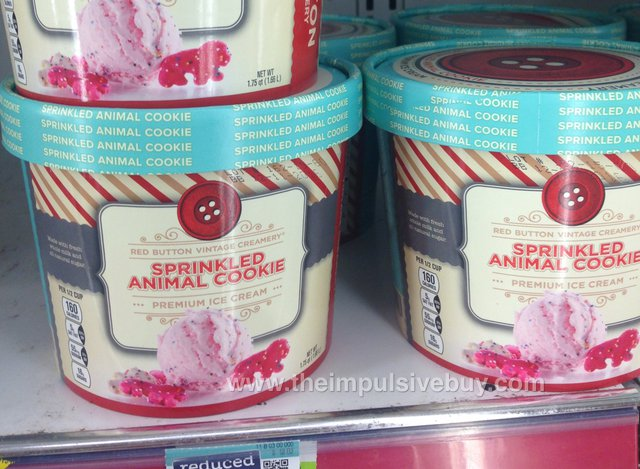 Red Button Vintage Creamery Sprinkled Animal Cookie Ice Cream