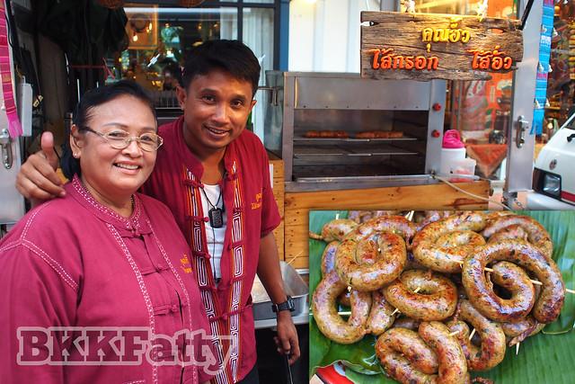 sai oua stand vintage market bangkok