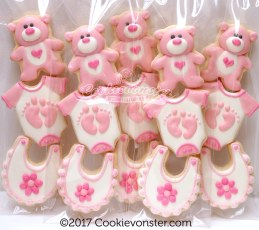Baby themed Mini cookies, 3 cookies per sleeve