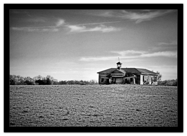 Old Shiloh School B&W