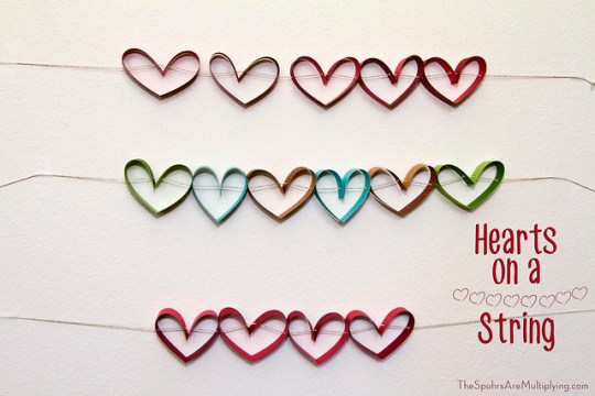 DIY Pull Hearts on a String