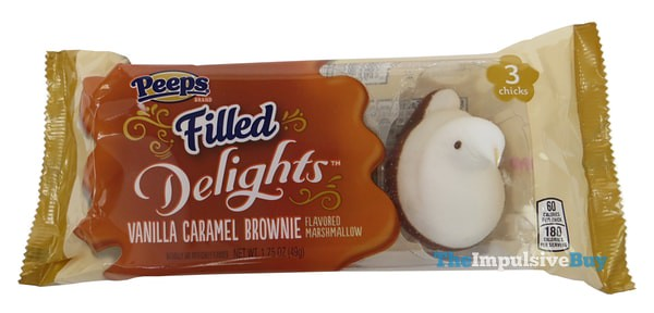 Peeps Filled Delight Vanilla Caramel Brownie