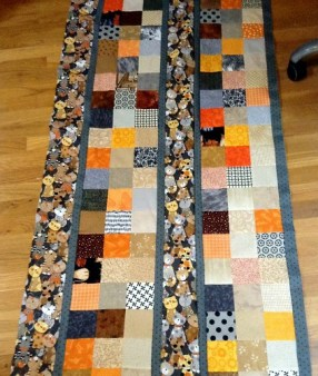 Good Mews quilt in progress