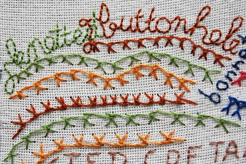 TAST 2012 #39: Knotted Buttonhole Stitch (Geknoopte Festonsteek)