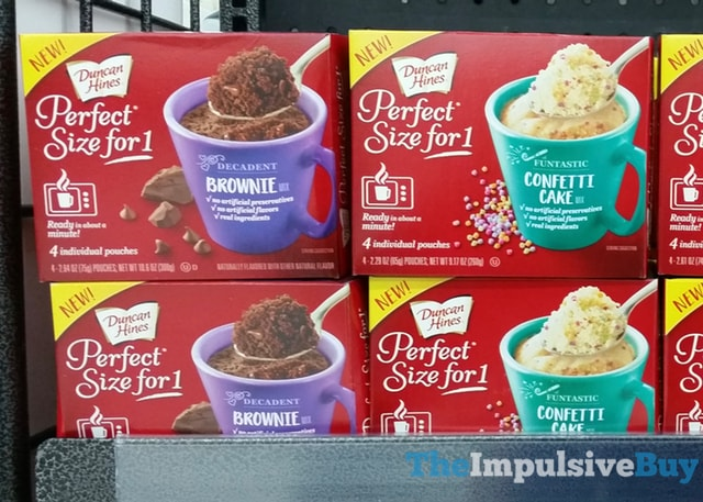 Duncan Hines Perfect Size for 1 Mixes (Brownie and Confetti Cake)